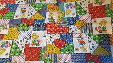 """Vintage Cotton Fabric PATCHWORK CALICO & BETSY ROSS FLAG 1 Yd + 25""""/44"""""""