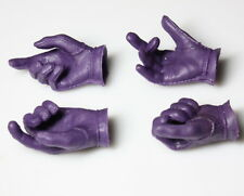 1/6 purple Glove hand type 2 pairs F 12'' action figure