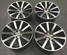 "20"" ALLOY WHEELS FITS CHRYSLER 300C DODGE CHARGER 5X115 BLACK POLISHED"