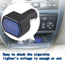 LED Display Cigarette Lighter Electric Voltage Meter For Auto Car Battery HS