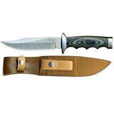 """Boker Magnum Giant Bowie Knife 8 ⅛"""" 440 Stainless Steel Blade & Leather Handle"""