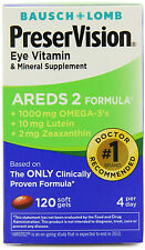 PreserVision Eye Vitamin AREDS 2 Formula Soft Gels 120 Pills