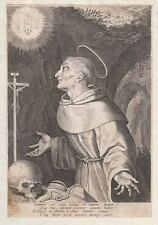 Hl. Franz Franziskus von Assisi St. Francis of - Wonderful Original Engraving