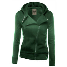 Womens Hooded Hoodie Sweatshirt Sportswear Zip Coat Jacket Jumper Tracksuit Tops