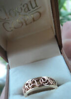 Clogau Welsh 9ct Rose & Yellow Gold Cariad Ring  -  size N