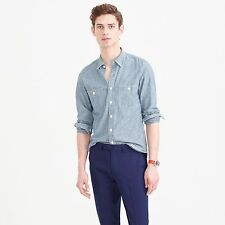 J Crew 2016 Selvedge Janpanese Chambray Utility Shirt - Men's Large - $98 43683