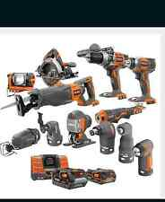 New Ridgid X4 18-Volt Lithium-Ion Cordless Contractor Kit (13-Piece) R96711N