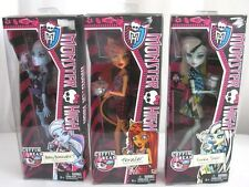 Monster High Dolls Abbey Bominable Toralei Frankie Stein Coffin Bean Set 3 Lot