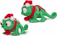 2013 Disney Store Tangled Rapunzel Green Pascal Holiday Bean Bag Plush Christmas