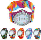 Geneva Womens Watches Silicone Bling Crystal Analog Digital Quartz Wristwatches