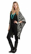 Womens Western Poncho Shawl Cowgirl Ruana Cape Open Front Tribal Southwest Aztec