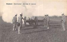 POSTCARD    MILITARY  ITALY   ARTILLERY  Esercitazioni - Un colpo di  cannone