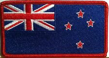 New Zealand Flag Embroidery Iron-On Patch  Emblem Red Border