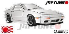 Mazda-RX-7-series-4   - White with Black Rims - JDM - JapTune Brand