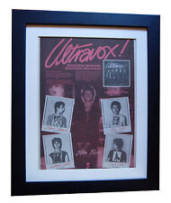 ULTRAVOX+1st+Debut+FOXX+POSTER+AD+FRAMED+RARE ORIGINAL 1977+EXPRESS GLOBAL SHIP
