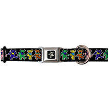 NEW The Grateful Dead Psychedelic Dancing Bears Seatbelt Dog Collar - USA Made