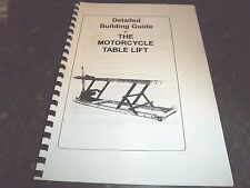 DIY Motorcycle Lift Bench - Table Build it yourself plans & Instructions