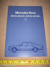 Mercedes Benz 500SE 380SEL '84 German CAR BROCHURE Catalogue Prospekt UK English