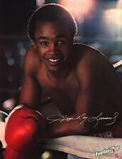 Boxing Poster~Vintage 7UP 1981 Sugar Ray Leonard Smile Original Boxer Smile New~