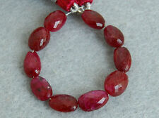 Natural Red Ruby Faceted Nugget Straight Drilled Gemstone Beads 001