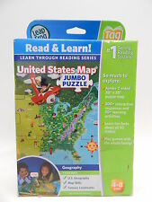 Leap Frog Interactive United States Map Tag Pen Puzzle Game Learning System USED