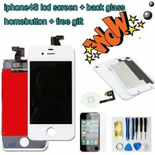 For iPhone4S LCD Display Touch Screen Digitizer +back cover+homebutton WHITE