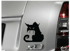 SPOOKY CAT  Reflective Warning Car Sticker Window  Wall Door Decal Best Gift-