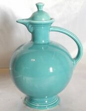 Fiestaware Turquoise Blue Carafe Pitcher W/Lid Circa 1936-1946 Lot 90