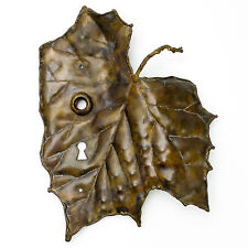 Vintage Leaf Backplate Door Gate Key Hole Steampunk Wall Art Nature