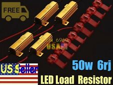 4pc 50W 6ohm LED Load Resistor Fix Bulb Fast Hyper Flash Tail Signal Blink Sales