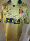 Arsenal 2001-2002 Squad Signed Away Football Shirt with our COA /31978