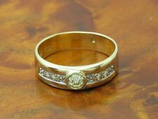 14kt 585 GOLD RING MIT 0,20ct BRILLANT BESATZ / BRILLANTRING DIAMANTRING