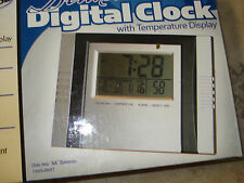 Innovage Deluxe Digital Clock with Temperature LED Alarm with Snooze Time Date
