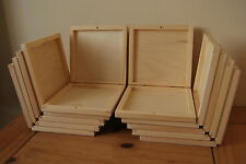 SET 10 PLAIN WOOD WOODEN CD BOX FOR DECOUPAGE CLOSED FOR MAGNET