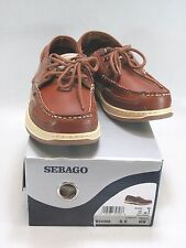 SEBAGO Men's CLOVEHITCH II Ambergold Brown Leather Boat Shoe Size 8.5 WW