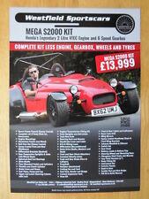 WESTFIELD MEGA S2000 2012 UK Mkt Kit Car Sales Leaflet Brochure