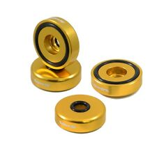 VMS RACING BILLET ALUMINUM GOLD B18 NON VTEC VALVE COVER WASHER & SEAL KIT 7 PC
