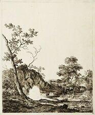 Radierung von Anthonie Waterloo 17. Jh. Landschaft Landschaftsbild