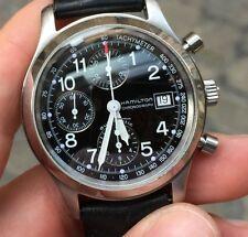Hamilton Acciaio Automatico 382817 kakhi field chrono chronograph steel 38 mm
