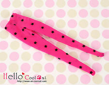 ☆╮Cool Cat╭☆【BP-35N】Blythe Pantyhoses Doll Socks # Net Deep Pink W / Star