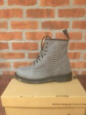 DR. MARTENS 1460  GREY PYTHON  LEATHER  BOOTS SIZE UK 12