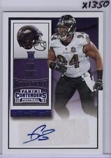 CARL DAVIS 2015 PANINI CONTENDERS AUTO ROOKIE TICKET #133 RC RAVENS IOWA - X1350