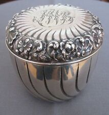 Gorham Sterling Silver Repousse Powder Puff Set ca. 1888