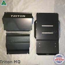 MQ Triton 3mm Steel 3 Piece Bash Plate Protection Set Radiator To Transmission