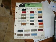 1979 AMC Dupont Duco Color Chip Paint Sample Concord Jeep Spirit Pacer