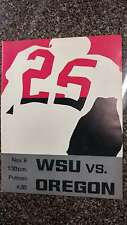 WSU vs U of Oregon Rogers Field Football 1965 Vintage Program J42113