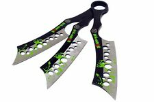 Set of 3 Zombie-War Throwing Knives with Sheath - [8188]