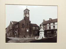 VINTAGE PHOTO- TOWN HALL IRELAND BUILDINGS 1890 CERTIFICATE LAWRENCE COLLECTION