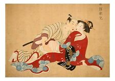 1157, Graphic Erotic ukiyo-e floating world Japanese Shunga, A4 Poster