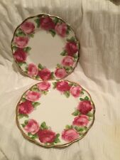 Royal Albert Old English Rose dos placas laterales